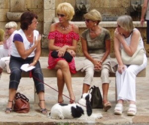 Women on bench talking.preview 300x251 Quote of the Day