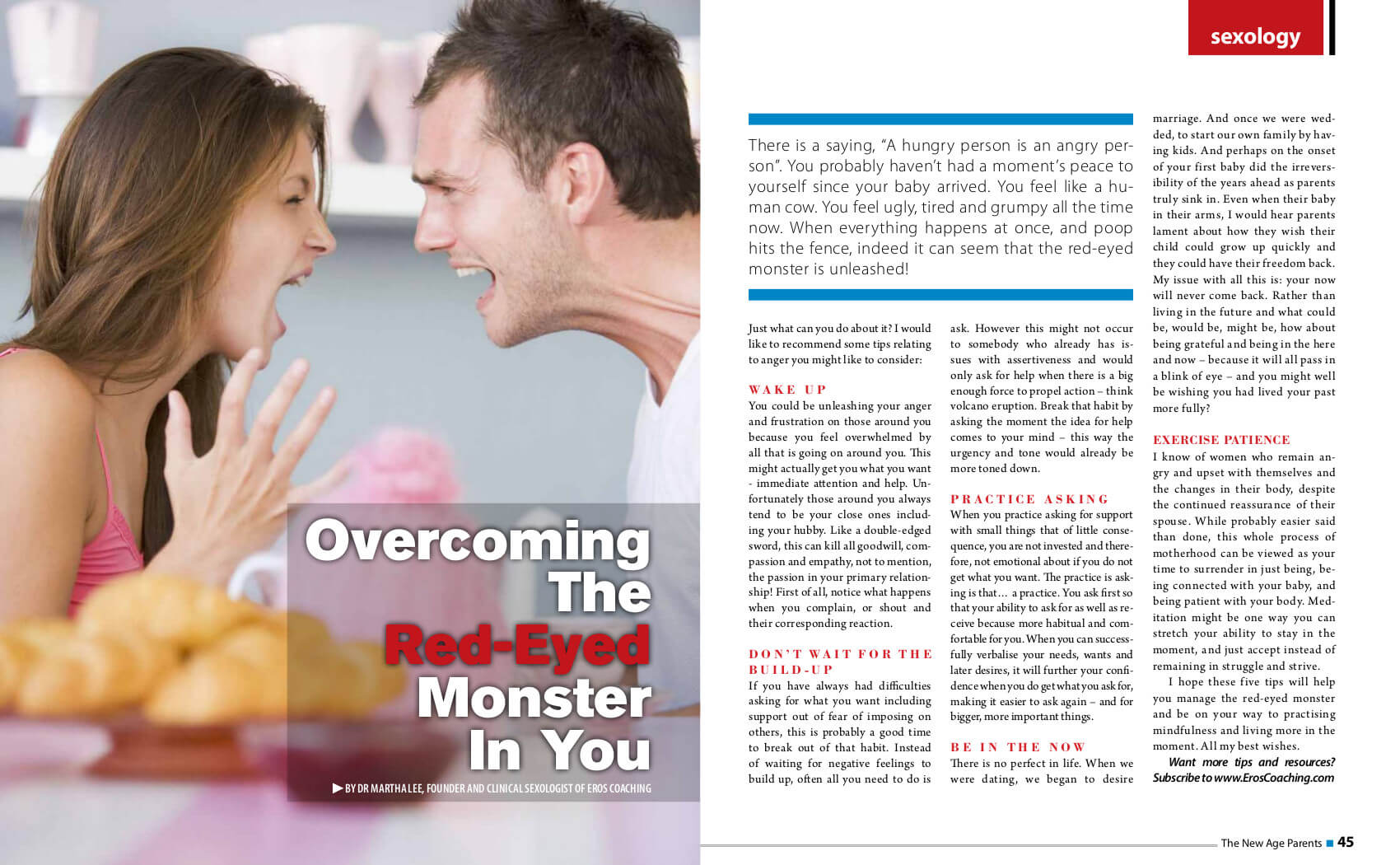 Overcoming the red eyed monster in you Oct Nov 2013