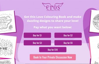 Pay-what-you-can: Love Colouring Book