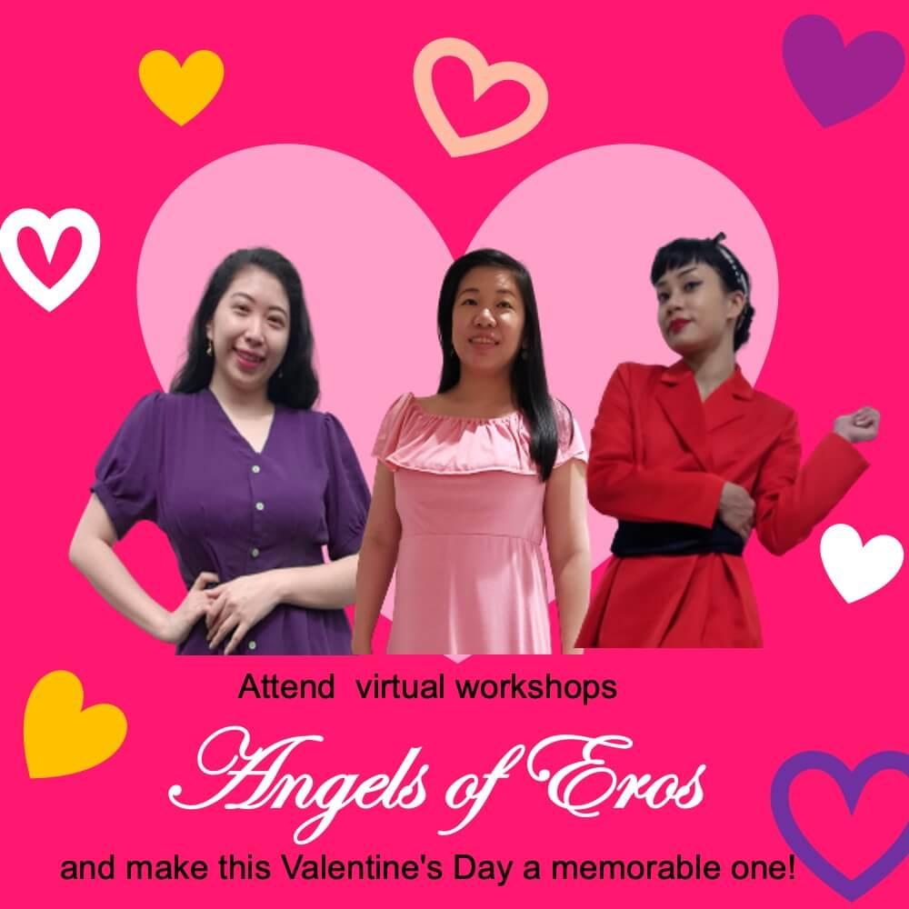 Attend virtual workshops Angel of Eros