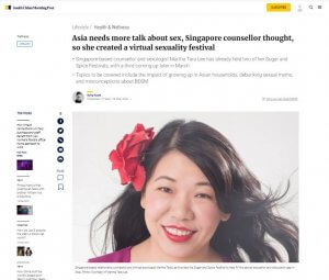 Asia needs more talk about sex, Singapore counsellor thought, so she created a virtual sexuality festival